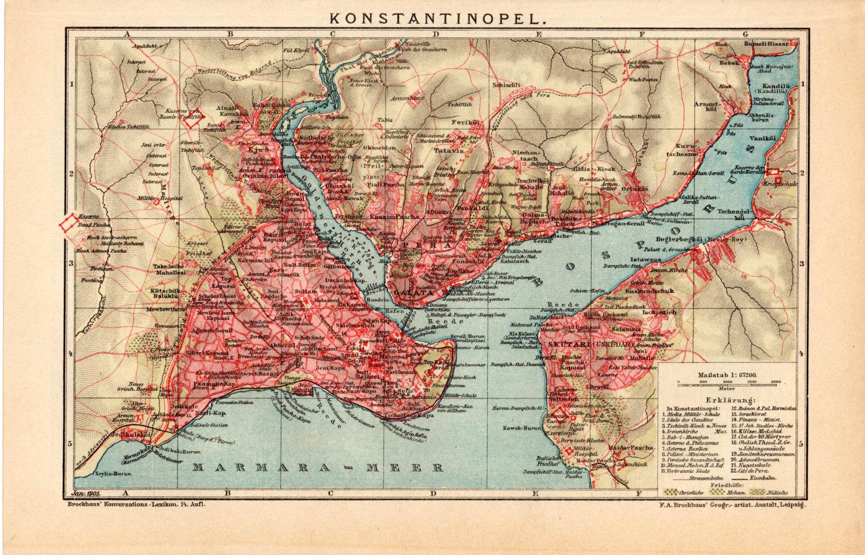 Konstantinopol německá mapa 1905