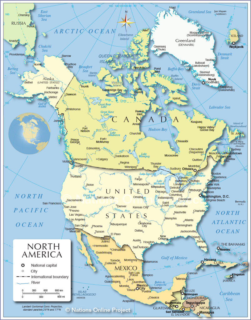 north-america-political-map