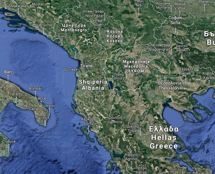 Albanie_GoogleMap